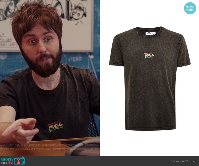 Tropical T-Shirt by Topman worn by James Buckley on I Feel Bad