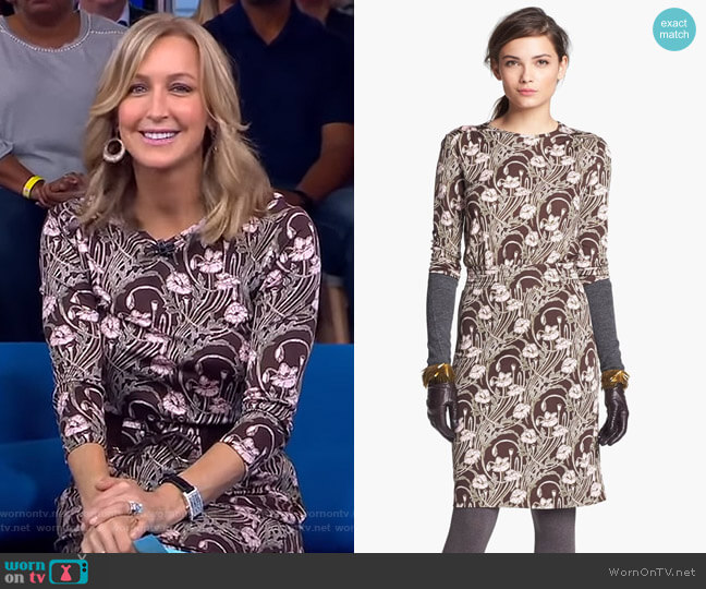 Dagny Dress by Tory Burch worn by Lara Spencer on Good Morning America