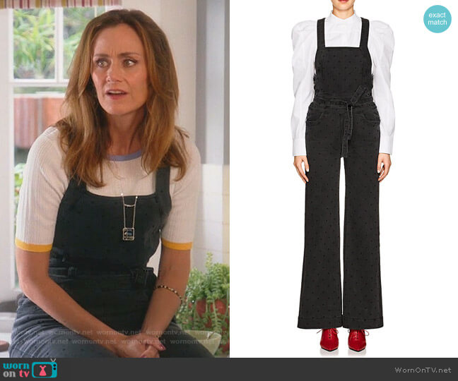Suvi Overalls by Ulla Johnson worn by Diane Farr on Splitting Up Together