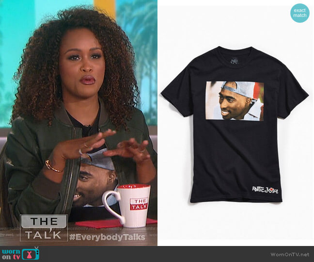 Tupac Poetic Justice Tee by Urban Outfitters worn by Eve on The Talk