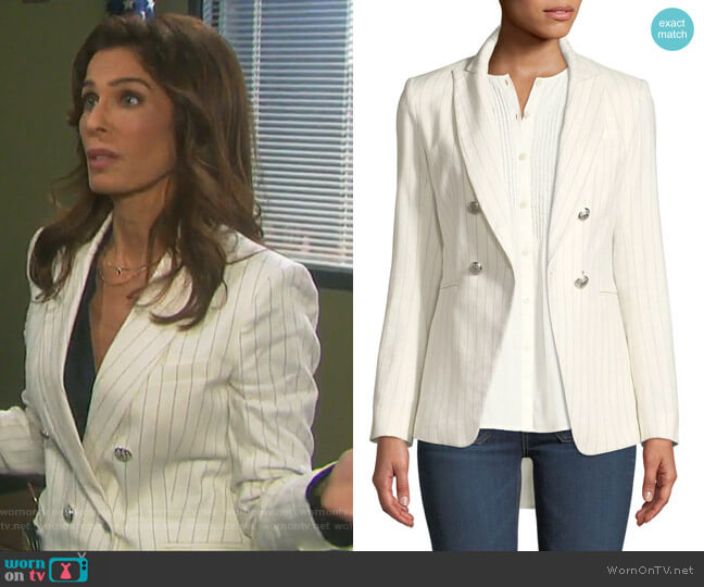 Apollo Linen Jacket by Veronica Beard worn by Hope Williams (Kristian Alfonso) on Days of our Lives