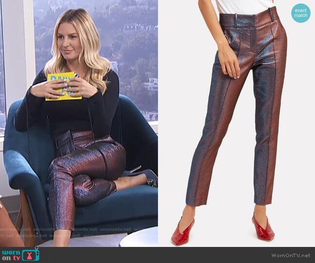 Lago Skinny Trousers by Veronica Beard worn by Morgan Stewart  on E! News