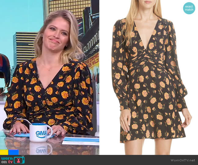 Marion Dress by Veronica Beard worn by Sara Haines (Sara Haines) on Good Morning America