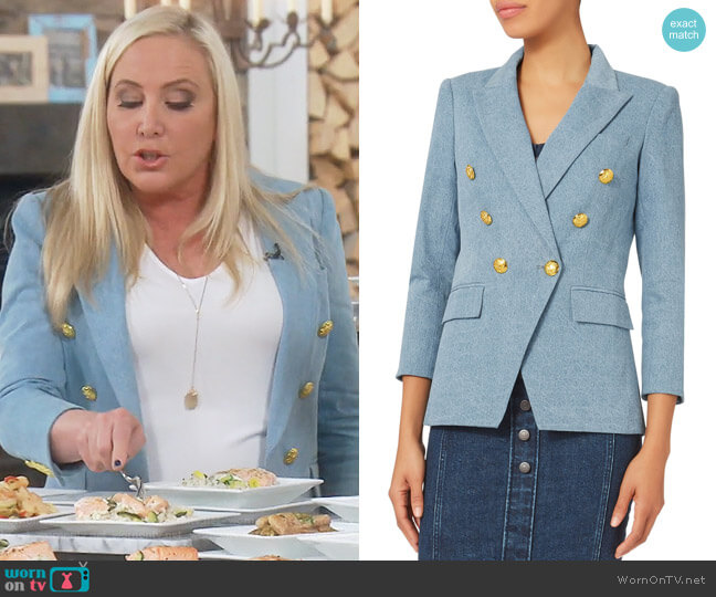 Miller Denim Jacket by Veronica Beard worn by Shannon Beador on The Real Housewives of Orange County