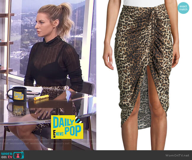 Ari Skirt by Veronica Beard worn by Morgan Stewart  on E! News