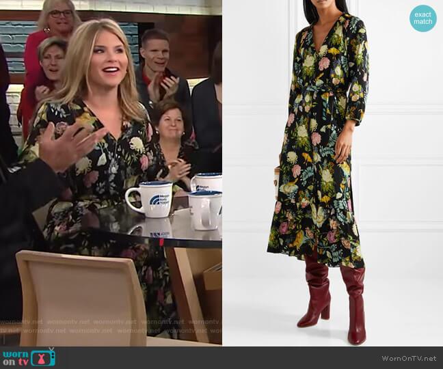 Olivia Dress by Vilshenko worn by Jenna Bush Hager  on Today