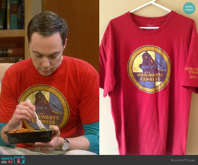 The Wizarding World of Harry Potter Hogwarts Express Tee worn by Jim Parsons on The Big Bang Theory