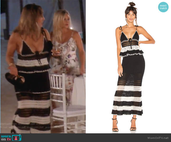 Calypso Dress by X by NBD worn by Kelly Dodd  on The Real Housewives of Orange County