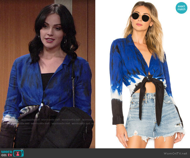 Young Fabulous & Broke Maxson Top worn by Tessa Porter (Cait Fairbanks) on The Young & the Restless