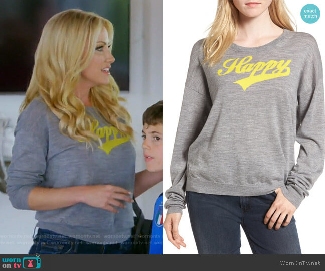 Kansas Bis Merino Sweater by Zadig & Voltaire worn by Stephanie Hollman  on The Real Housewives of Dallas
