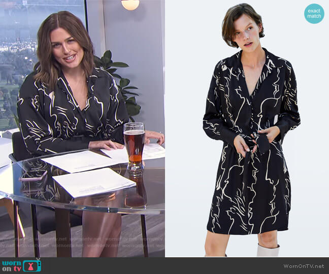 Printed Tunic by Zara worn by Carissa Loethen Culiner  on E! News