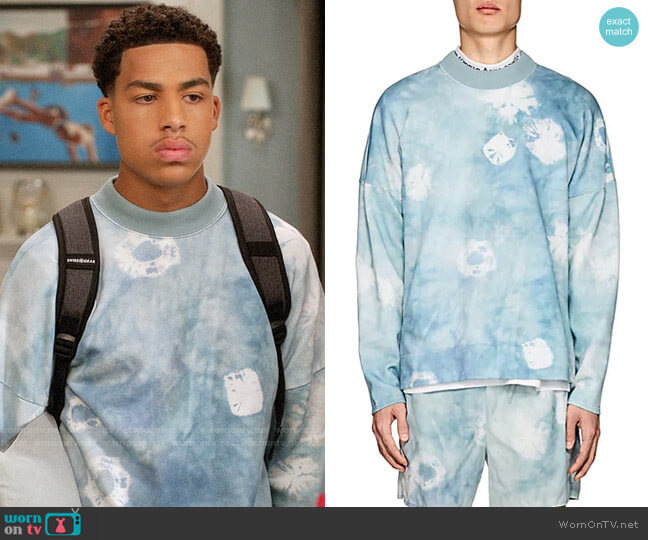 Acne Studios Fellke Bleach Sweatshirt worn by Andre Johnson Jr (Marcus Scribner) on Blackish