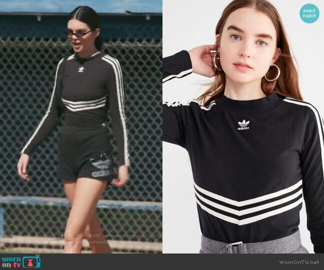 Adibreak Long Sleeve Tee by Adidas worn by Kendall Jenner  on Keeping Up with the Kardashians