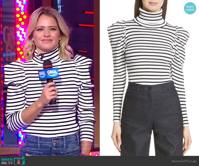 Baker Sweater by ALC worn by Sara Haines  on Good Morning America
