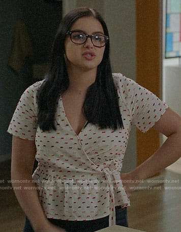 Alex's embroidered wrap top on Modern Family