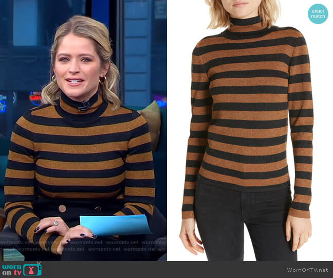 Roberta Pullover by Alice + Olivia worn by Sara Haines on Good Morning America