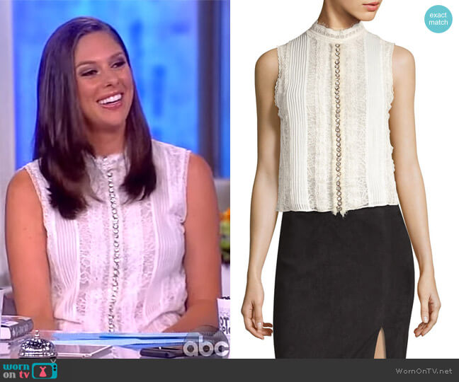Valentine Sleeveless Top by Alice + Olivia worn by Abby Huntsman  on The View