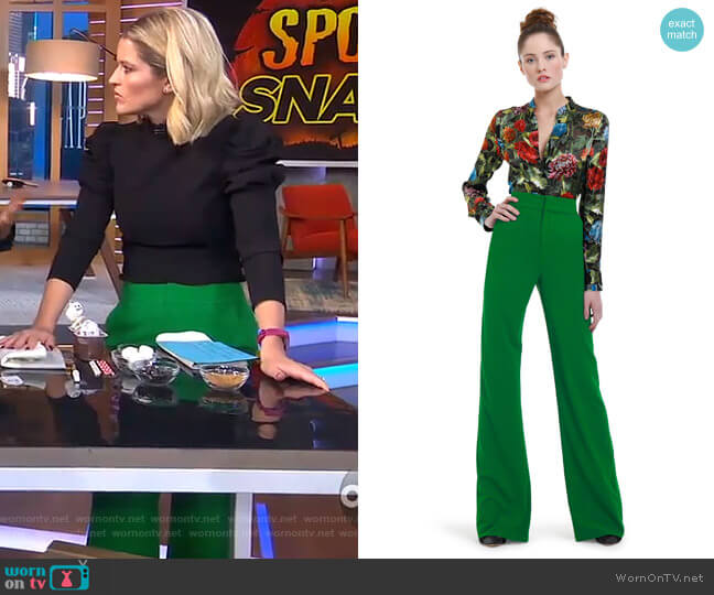 Sara's green pants on GMA Day