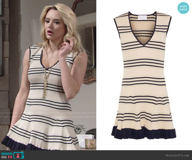 Alice McCall Frenchie Dress worn by Hunter King on The Young & the Restless