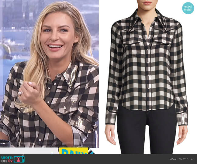 Caleb Western Button Down Shirt by Alice + Olivia worn by Morgan Stewart  on E! News
