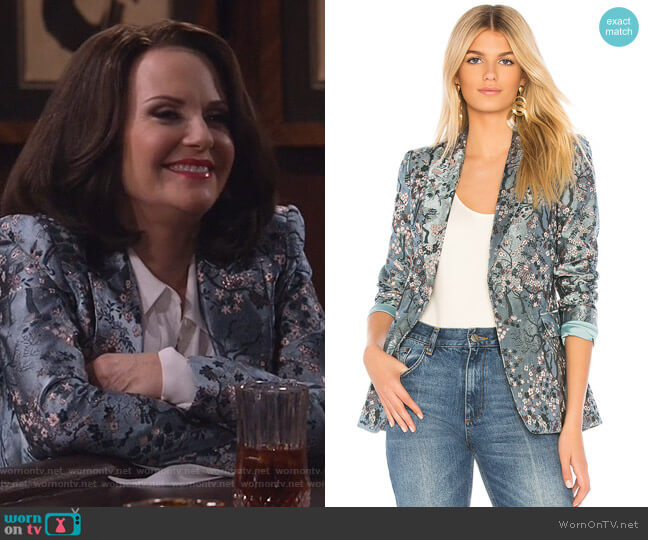 Macey Blazer by Alice + Olivia worn by Karen Walker (Megan Mullally) on Will & Grace