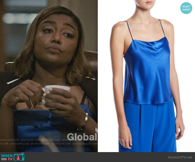 Alice + Olivia Harmon Cami worn by Patina Miller on Madam Secretary