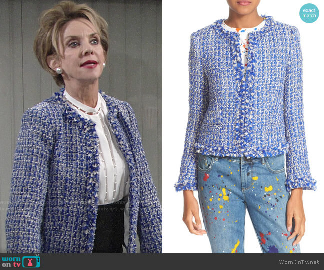 Alice + Olivia Nila Jacket worn by Gloria Abbott Bardwell (Judith Chapman) on The Young & the Restless