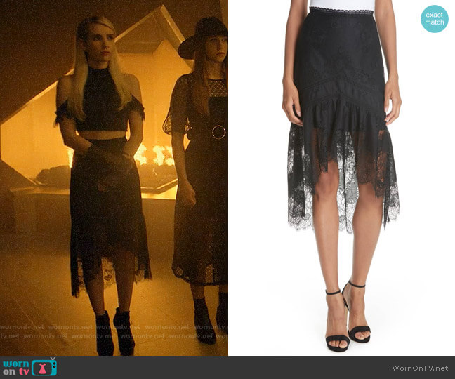 Alice + Olivia Triss Skirt worn by Madison Montgomery (Emma Roberts) on American Horror Story