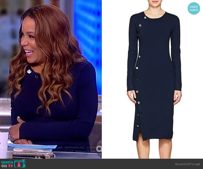 Arzel Compact Knit Dress by Altuzarra worn by Sunny Hostin  on The View