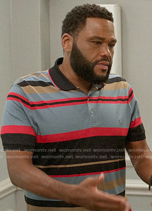 Andre's striped polo shirt on Black-ish