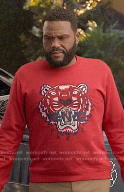Andre's red Kenzo tiger sweatshirt on Black-ish