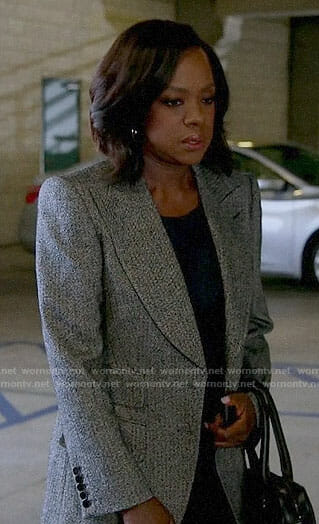 Annalise's grey blazer on How to Get Away with Murder