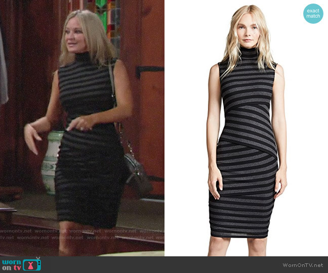 Bailey 44 Pavlova Stripe Dress worn by Sharon Collins (Sharon Case) on The Young & the Restless