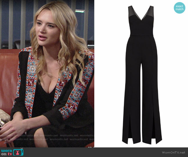 Bcbgmaxazria Vicktoria Jumpsuit worn by Summer Newman (Hunter King) on The Young & the Restless