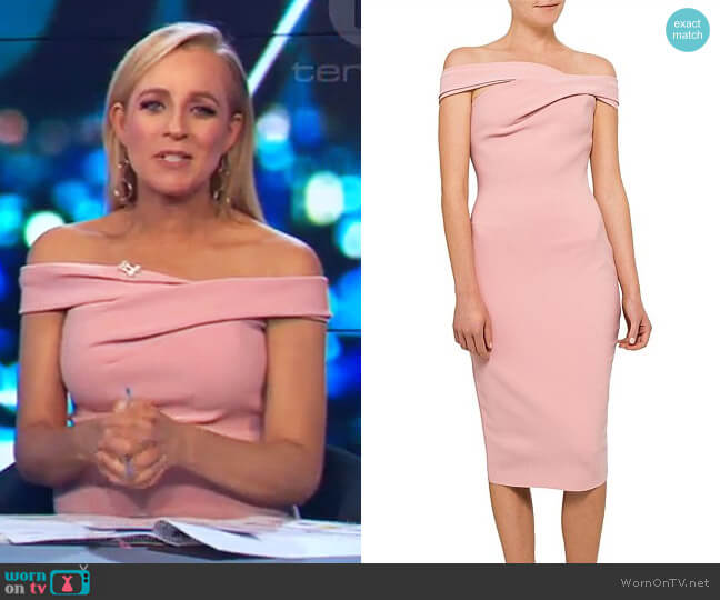 Luxul Dress by Bec & Bridge worn by Carrie Bickmore on The Project