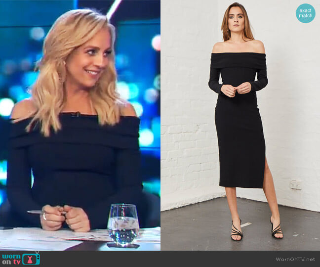 Elle Off Shoulder Dress by Bec + Bridge worn by Carrie Bickmore  on The Project