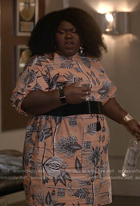 Becky's orange floral dress on Empire
