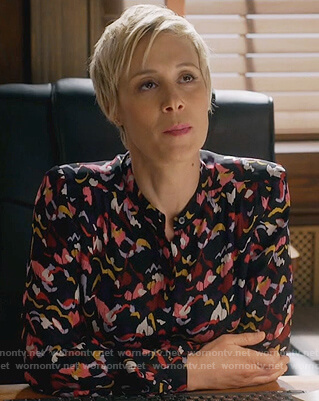 Bonnie's abstract print blouse on How to Get Away with Murder