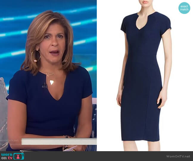Gyspy Rose Sheath Dress by Black Halo worn by Hoda Kotb  on Today