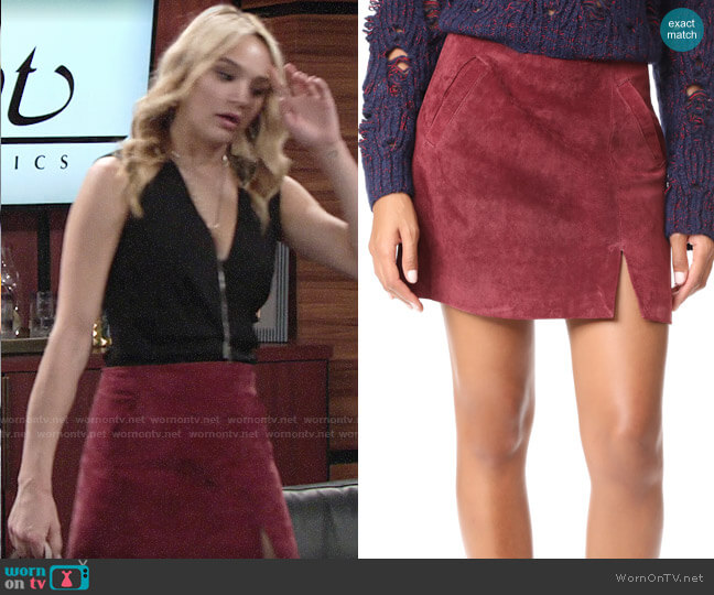 Blank Denim Ruby Skirt worn by Hunter King on The Young & the Restless