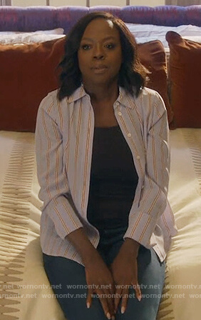 Annalise's blue striped top on How to Get Away with Murder