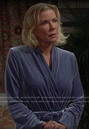 Brooke's blue robe on The Bold and the Beautiful
