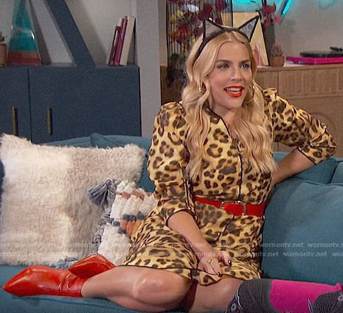 Busy's leopard print dress on Busy Tonight