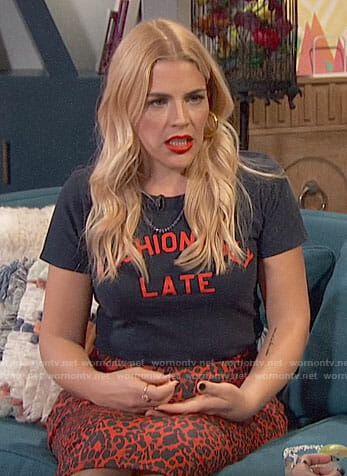 Busy's Fashionably Late tee on Busy Tonight