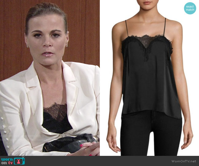 Cami NYC Sweetheart Charmeuse Silk Camisole worn by Phyllis Newman (Gina Tognoni) on The Young & the Restless