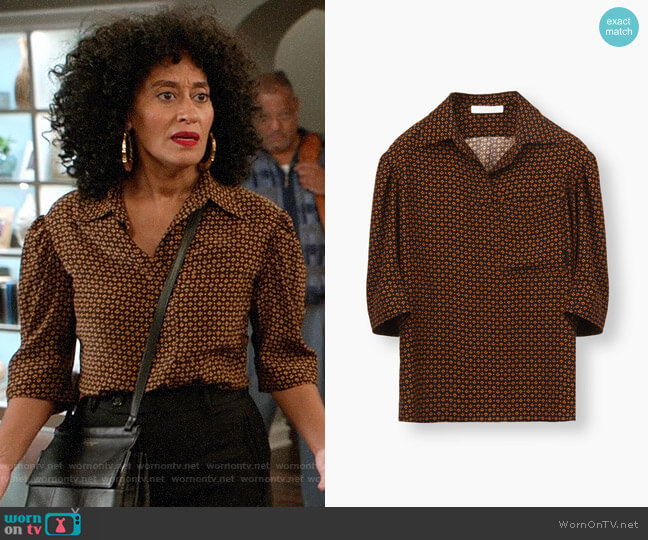 Chloe Polo Top worn by Tracee Ellis Ross on Blackish