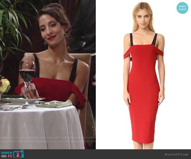Cinq a Sept Nova Dress worn by Christel Khalil on The Young & the Restless