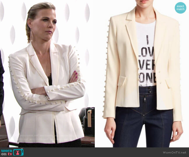 Cinq a Sept Vivianna Blazer worn by Gina Tognoni on The Young & the Restless