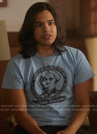 Cisco's Michael Faraday t-shirt on The Flash