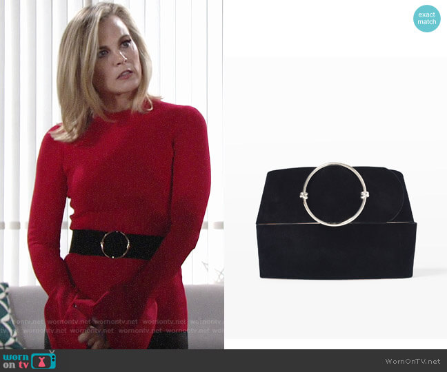 Club Monaco Elowen Belt worn by Phyllis Newman (Gina Tognoni) on The Young & the Restless